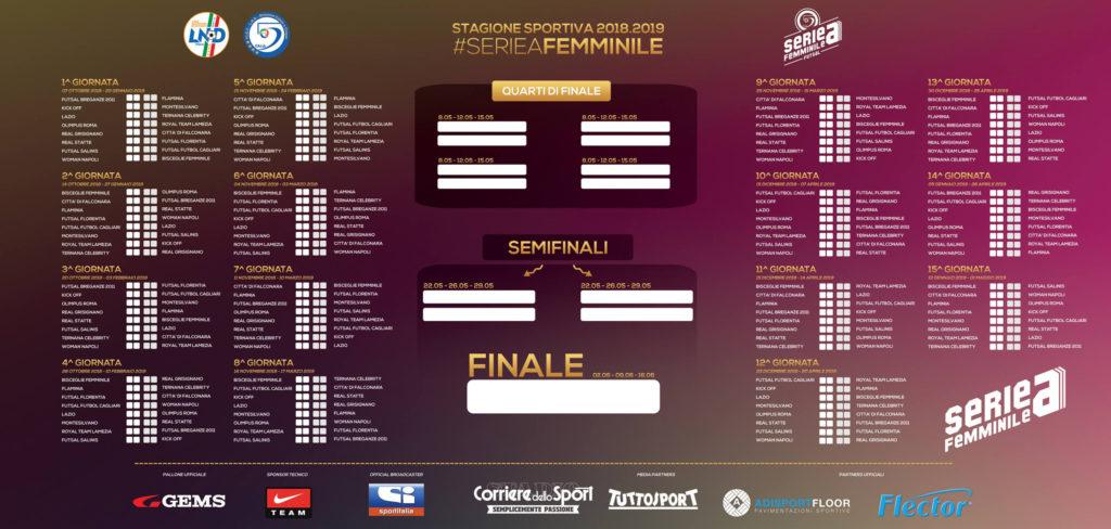Calendario Serie A 11 Giornata.Calendario Serie A Femminile 2018 2019 Ogni Maledetta
